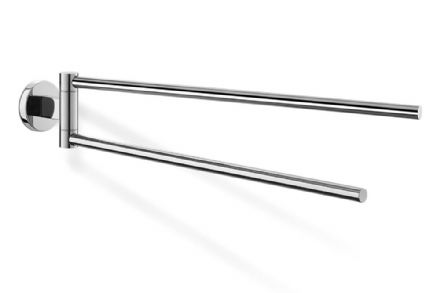 Zack Scala Swivelling Towel Rail Polished Stainless Steel